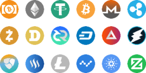 diverse logo's van crypto's