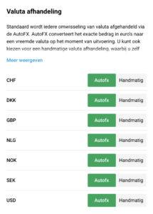 de locatie van autoFX in DEGIRO app