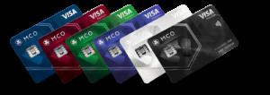 foto's van alle vijf prepaid kaarten van crypto.com
