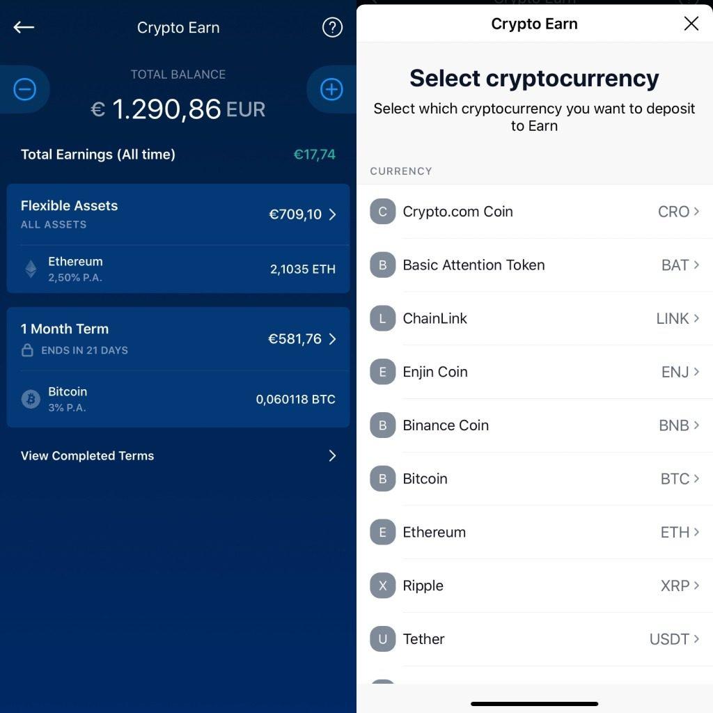 uitleg hioe je crypto.com earn moet gebruiken
