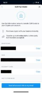 voorbeeld van stortgegevens van de crypto.com app